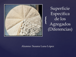Superficie Especifica de los Agregados (Diferencias)