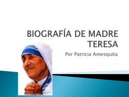 biografía de madre teresa