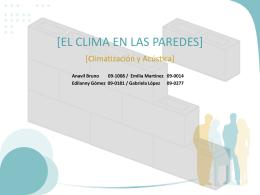 el clima en las paredes - Climatización y Acústica para Arquitectos