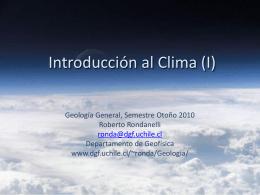 Introducción al Clima (I)