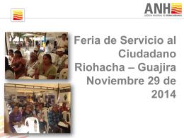 Informe Feria Riohacha