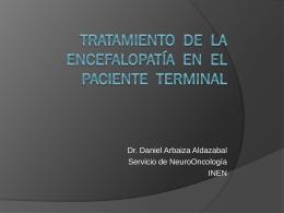 manejo de encefalopatia en enfermedad terminal