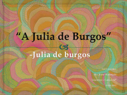 *A julia de burgos*