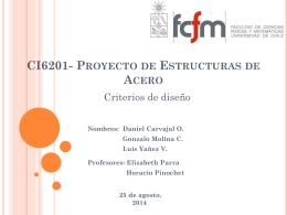 CI6201- Proyecto de Estructuras de Acero - U