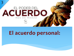 El Poder del Acuerdo 3 – Power Point Multimedia