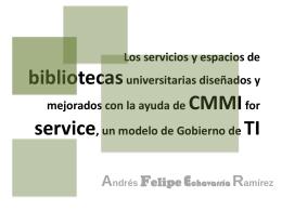 Los servicios y espacios de bibliotecas universitarias - e-Lis