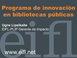 Proyectos de EIFL-PLIP
