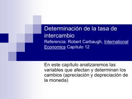 Determinantes de la tasa de cambio internacional