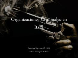 Organizaciones Criminales en Italia - Cultura