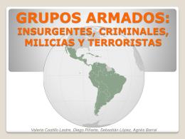 GRUPOS ARMADOS: INSURGENTES, CRIMINALES, MILICIAS Y