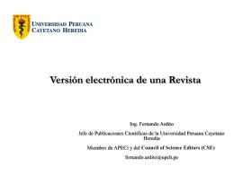 Versión electrónica de una Revista