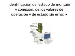 Identificación del estado de montaje y conexión, de los valores de