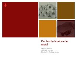 Doblez de láminas de metal