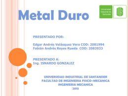Metal duro - Universidad Industrial de Santander