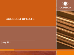 codelco_update_july_2011