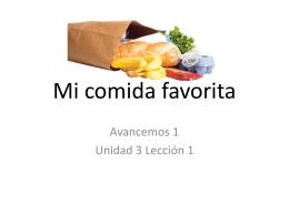 Mi comida favorita vocab 3-1