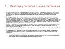 Bastidas y ciudades nuevas medievales