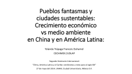 Ciudades sustentables en China y en América Latina - red alc