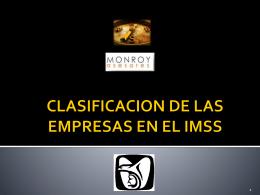 CLASIFICACION DE LAS EMPRESAS EN EL IMSS