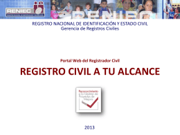 Registro Civil a tu alcance