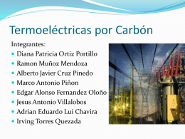 Termoelectrica por carbón
