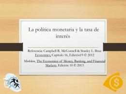 Capítulo 15: Los bancos de la Reserva Federal y la política monetaria