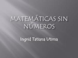 Matemáticas sin números - tic-uso