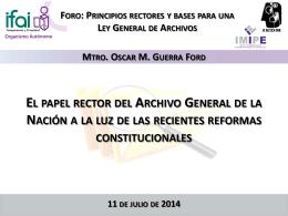 Papel Rector del AGN