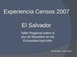 Experiencia Censos 2007