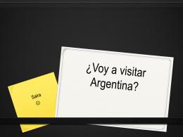 ¿Voy a visitar Argentina?