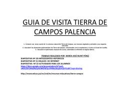 GUIA DE VISITA TIERRA DE CAMPOS PALENCIA