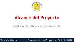 Presentación 06: Alcance del proyecto