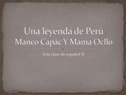 Una Leyenda de Peru by Yevonne Holland Arendt