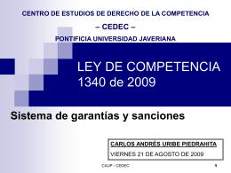 Carlos A. Uribe - Centro de Estudios de Derecho de la Competencia