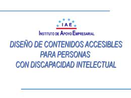 Diseño de Contenidos Accesibles para personas con