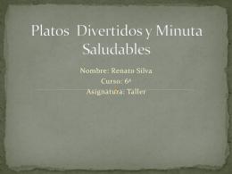 Platos Divertidos y Minuta Saludables 377KB Oct 30 2014 03