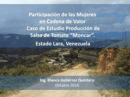 Producción de Salsa de Tomate - International Land Coalition