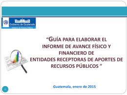 Presentación: Informe de Avance físico y Financiero Entes