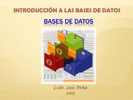 Teoría de Bases de Datos