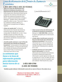 Línea de información de la División de Asistencia Económica