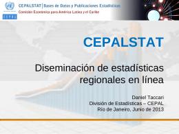 División de Estadísticas Grupo de Trabajo de CEPALSTAT