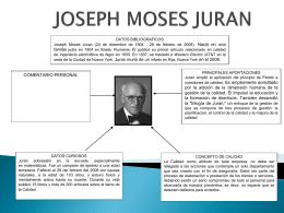 JOSEPH MOSES JURAN - Sistemasdegestiondecalidad