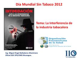 DÝa Mundial sin Tabaco 2012