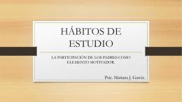 HÁBITOS DE ESTUDIO - Colegio Casa del Niño