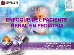Enfoque del paciente renal en pediatría. Dra. Diana Bello