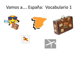 Vamos a*. España: Vocabulario 1 - Fort Thomas Independent Schools