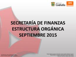 Organigrama - Secretaría de Finanzas de Coahuila