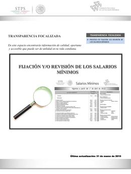 Transparencia Focalizada - Comisión Nacional de los Salarios
