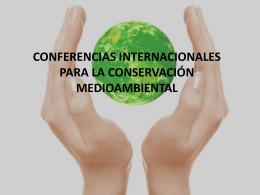 conferencias internacionales para la conservación