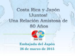 Documento de Presentación - de la Embajada del Japón en Costa